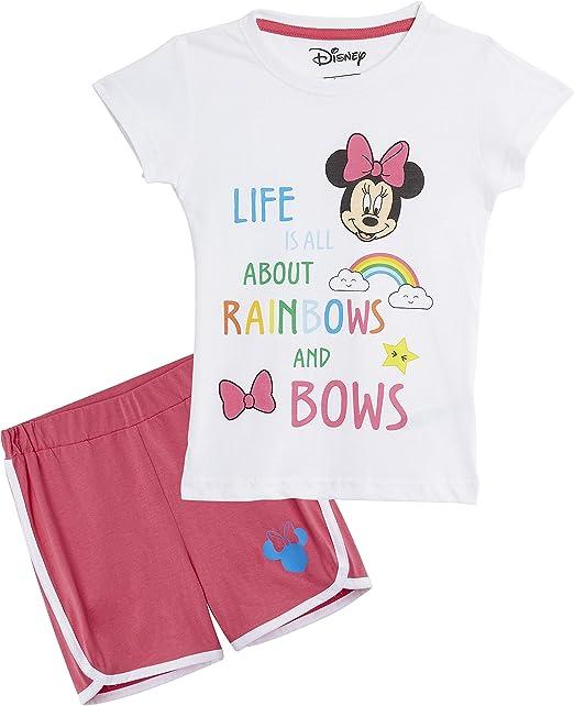 Disney Minnie Mouse Pijama Niña, Ropa Niña 100% Algodón, Conjunto Pijamas Verano Cortos 2 Piezas, Pijama Rosa para Dormir o Vacaciones, Regalos para Niñas Edad 3-7 Años (3 años): Amazon.es: Ropa y accesorios