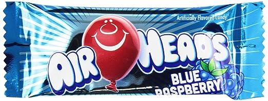 Airheads Fruit Bars Mini Bulk Case, Blue Raspberry, 8 Pound