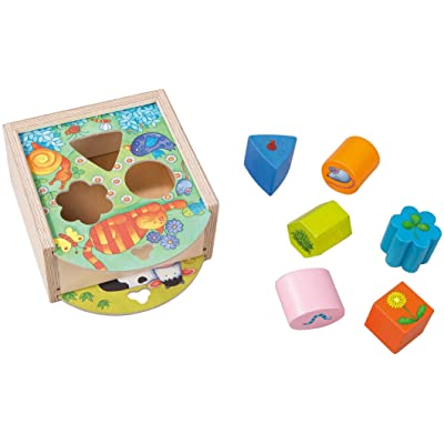 HABA Animals Sorting Box - Wooden Shape Sorter and Matching Toy for Ages 1 and Up (Made in Germany): Toys & Games