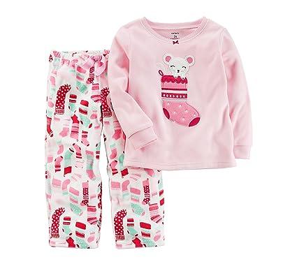 6b88a1e73 Amazon.com  Carter s Girls  12M-8 2 Piece Christmas Stocking Fleece ...