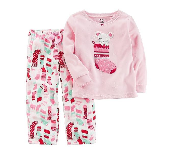 Amazon.com  Carter s Girls  12M-8 2 Piece Christmas Stocking Fleece ... df1f04bb8