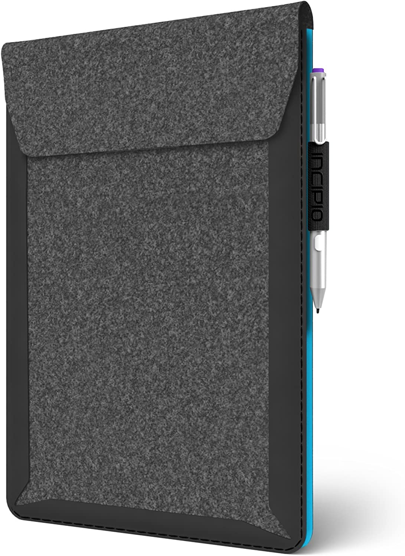 for Microsoft Surface 3-Gray//Cyan Incipio Microsoft Surface 3 Sleeve Underground Shock Absorbing Sleeve
