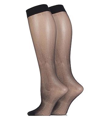 4309584b1 Mytoptrendz® Women 15 Denier Knee High Pop Socks (Black-)  Amazon.co.uk   Clothing
