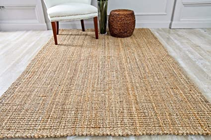 Amazon Com Persian Area Rugs Hs Dara Handspun Natural Jute 8x10