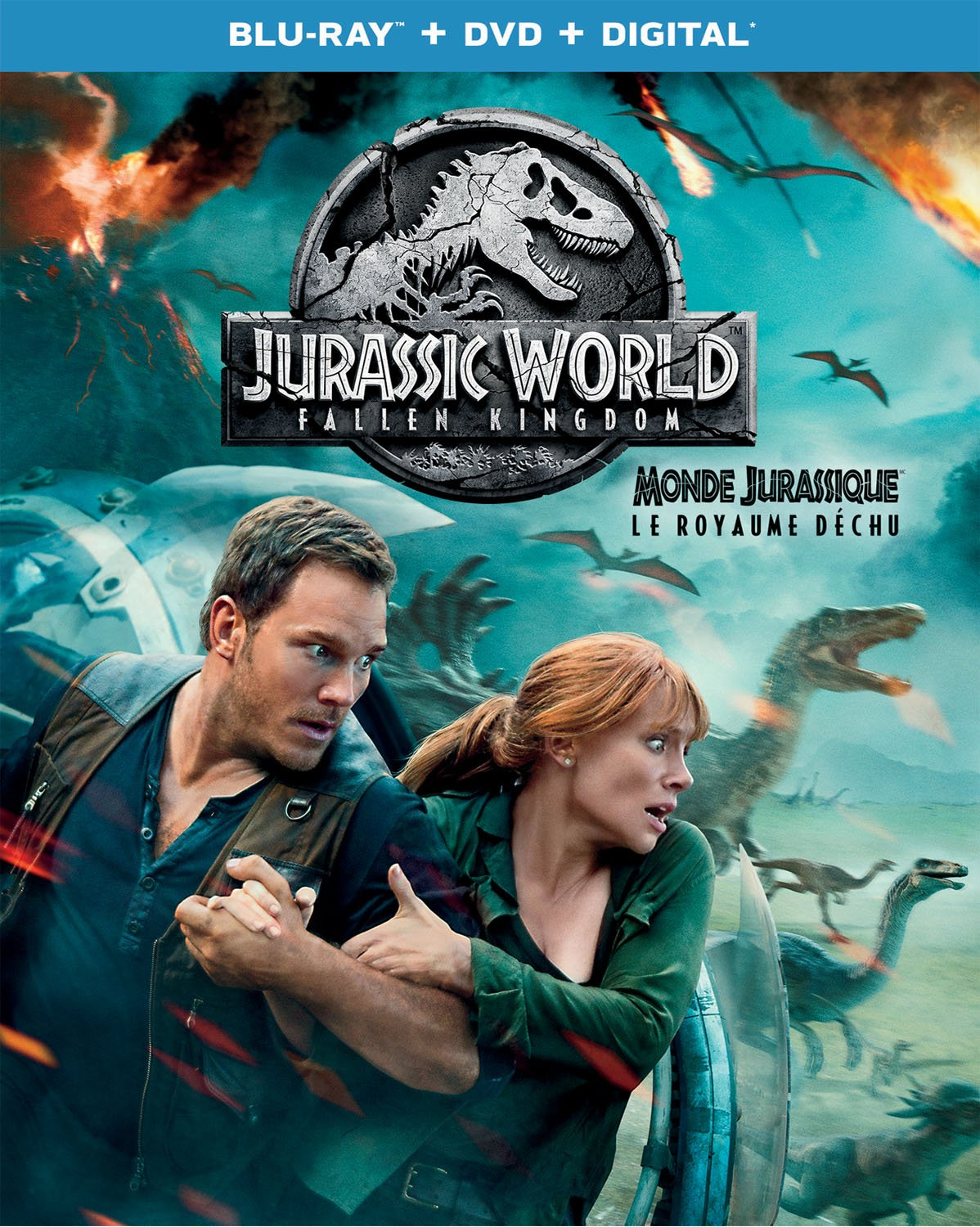 Jurassic World: Fallen Kingdom [BD Combo Pack] [Blu-ray] (Sous-titres français) Chris Pratt Bryce Dallas Howard Rafe Spall Justice Smith