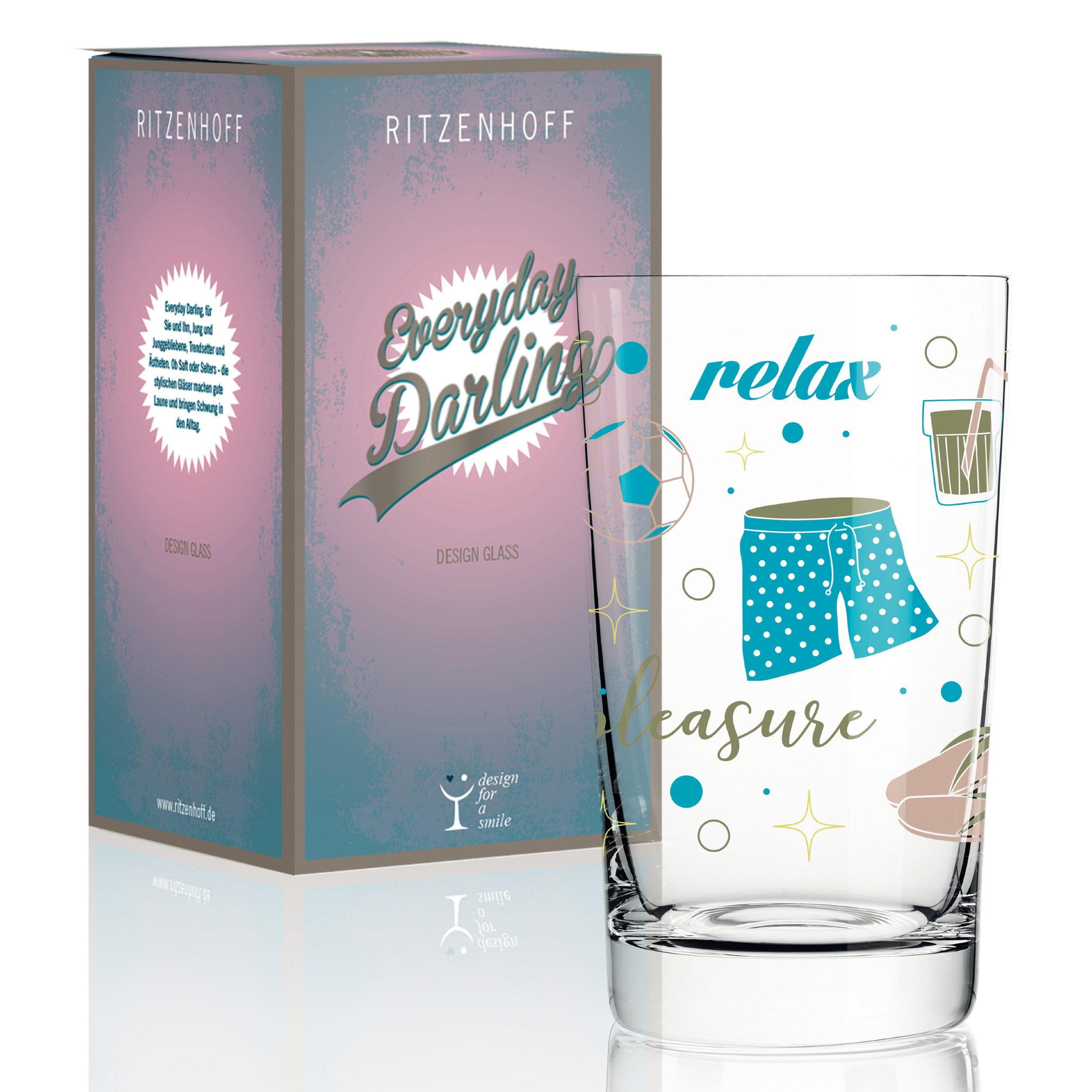 Ritzenhoff Everyday Darling Soft Drink Glass by Liana Cavallaro 300 ml with Trendy Designs