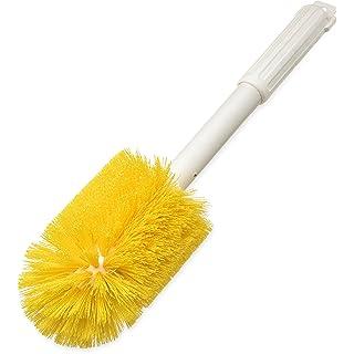 "Carlisle 4000504 Multi-Purpose Round Valve Brush, 4"" Polyester Bristles, 16"" Length, Yellow"