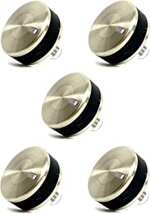 WB03X24360 Replacement Gas Cooktop Knob for GE. Stainless Steel Range Burner Control Knob. Replace Part Number WB03T10259, 4179424, AP5980302, PS11700818, EAP11700818 (5 Pack)