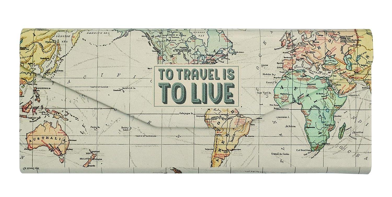Cadeau Maestro Brillenetui Karte der Welt