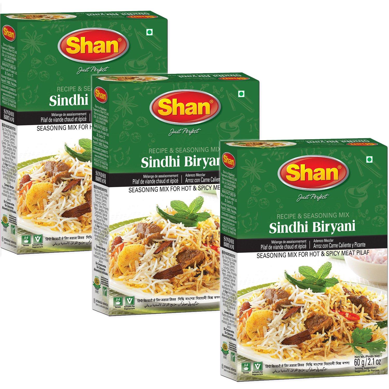 Amazon.com : Shan - Sindhi Biryani Seasoning Mix (3 PACK), 60g x 3 : Grocery & Gourmet Food