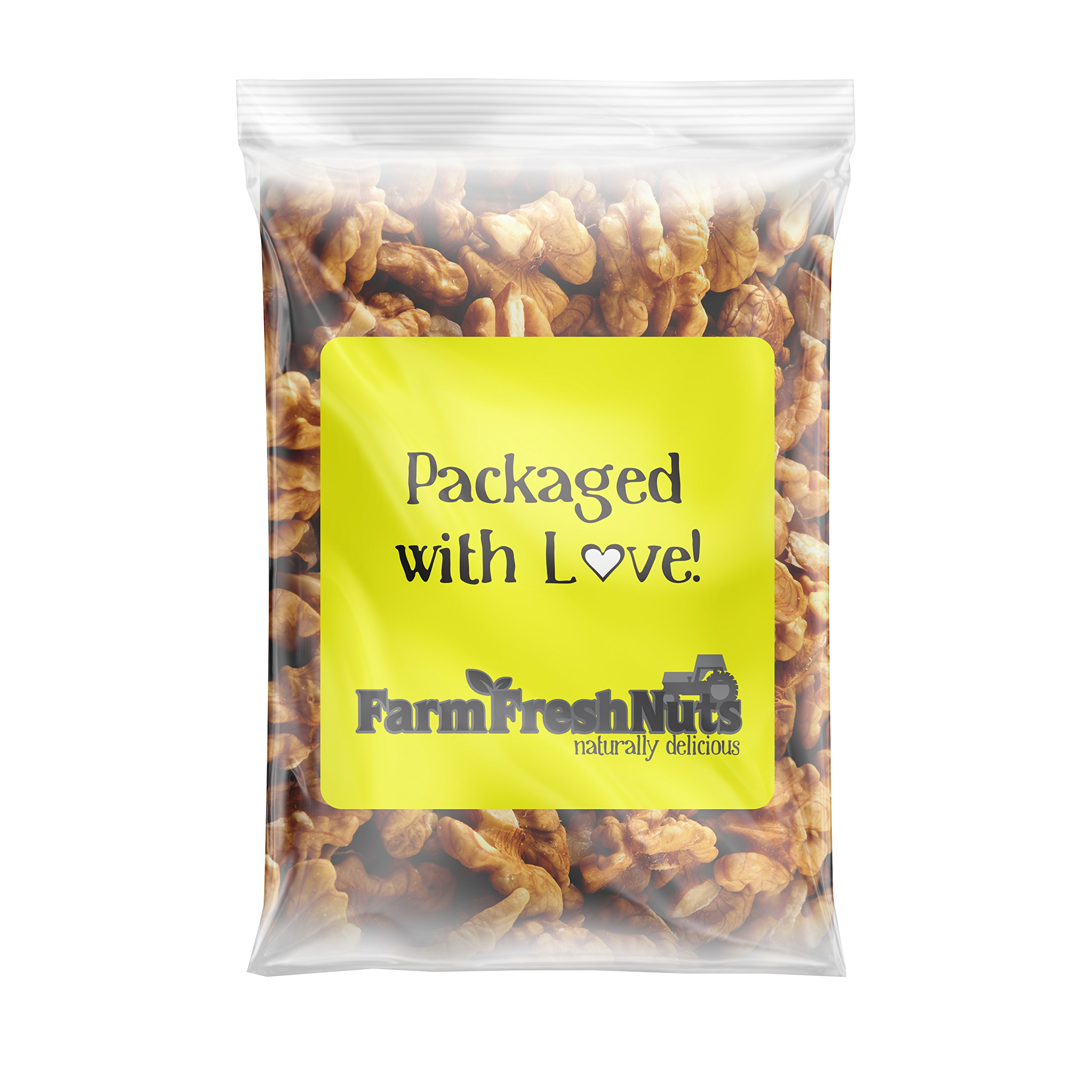 CALIFORNIA WALNUTS Halves & Pieces - Great Source of Omega 3 - Super Crunchy - (3 LB) by Farm Fresh Nuts