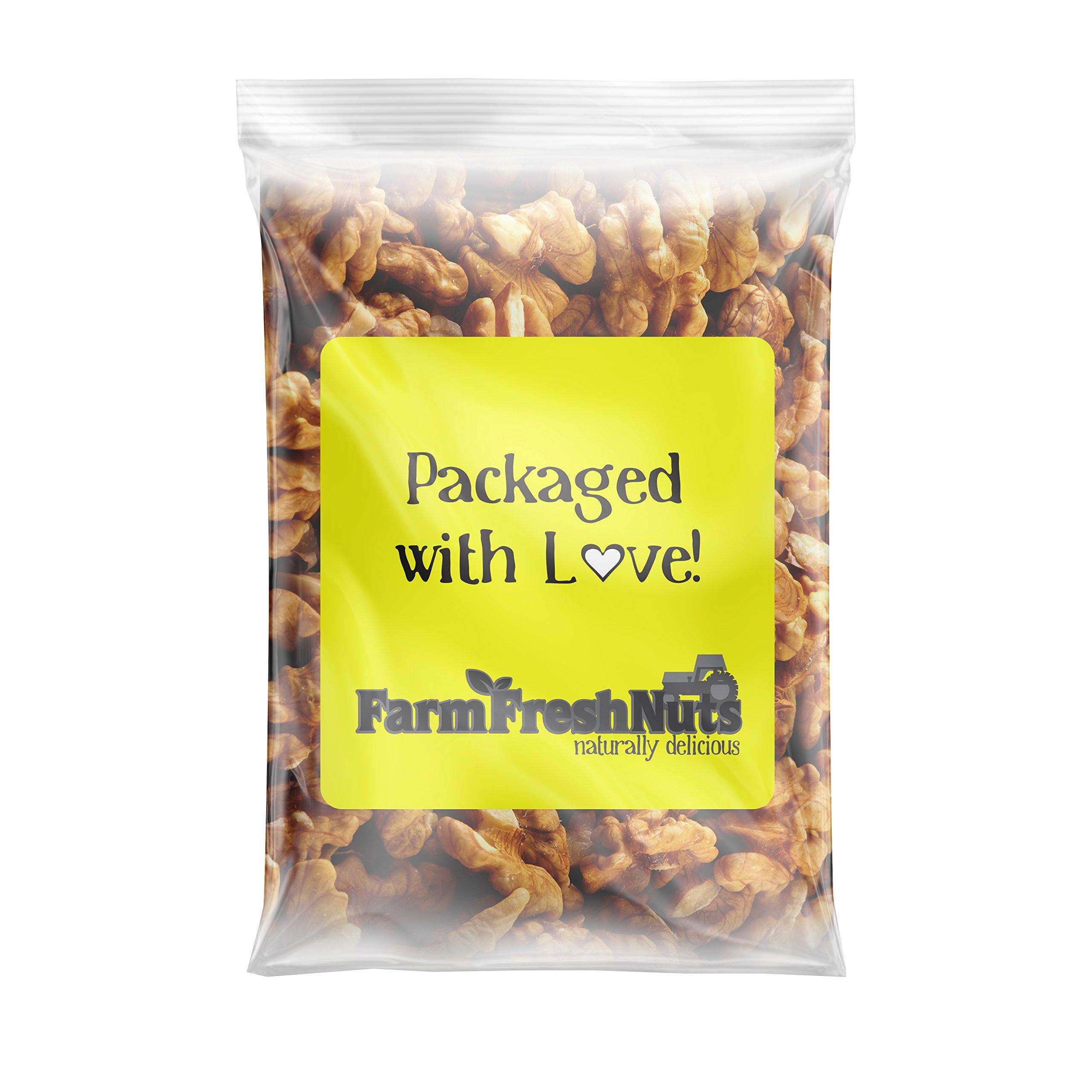 CALIFORNIA WALNUTS Halves & Pieces - Great Source of Omega 3 - Super Crunchy - (5 LB) - Farm Fresh Nuts Brand.