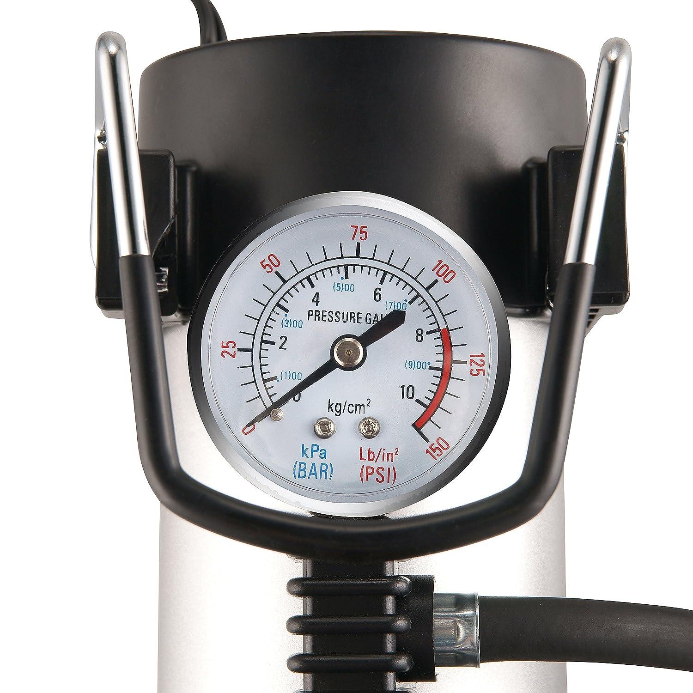 2146 RAD Sportz 12 Volt Electric Air Captain Air Compressor w// Gauge for Bike or Auto RAD Cycle Products 2146 RAD Air Captain Pump