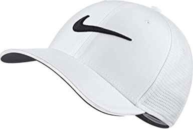 Nike 848052 Gorra de béisbol, Hombre, Blanco (Blanco 101), Medium ...