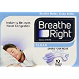 Breathe Right Clear Nasal Strips, Small/Medium, 10 Strips