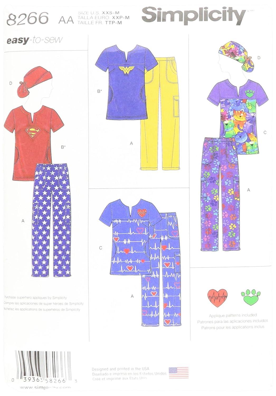 Patrón de costura Simplicidad 8266 AA - Patrones de costura para ...