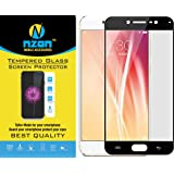 Vivo V5s Tempered Glass Full Cover [Anti Fingerprint] [Edge to Edge Crash Protection] [Scratch Proof] [Bubble Free] Tempered Glass Screen Protector for Vivo V5s - Black
