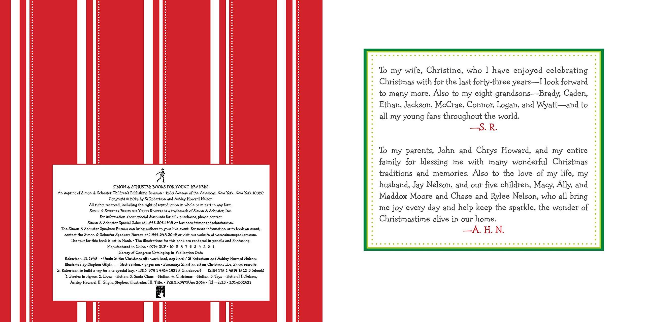 Uncle Si the Christmas Elf: Work Hard, Nap Hard: Si Robertson ...