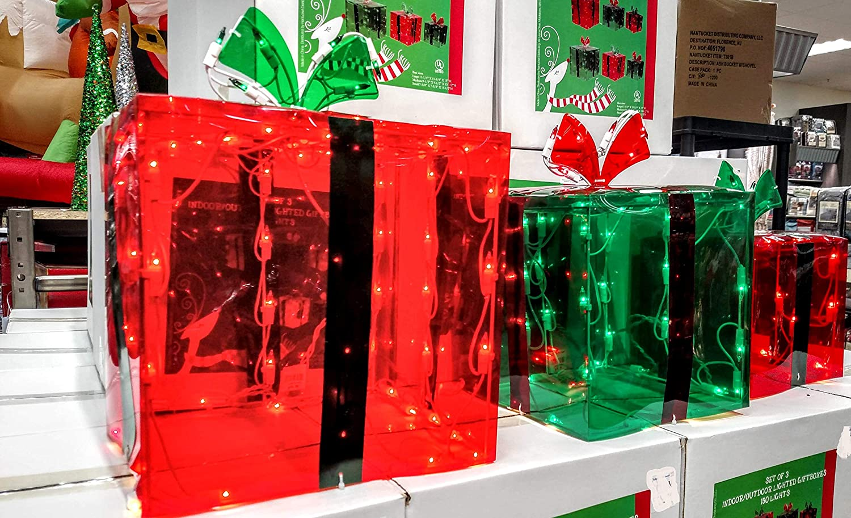 Amazon.com: 3 Lighted Gift Boxes Christmas Decoration Yard Decor 150 ...