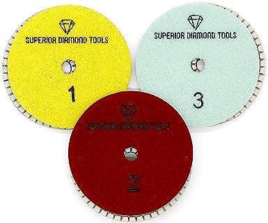 3-Step Diamond Polishing Pads Quartz Engineered Stone Wet Polishing