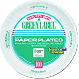 AJM Packaging Corporation PP6AJKWH Uncoated Paper Plates, 6 Inches, White, Round, 10 Packs of 100 (Case of 1000)