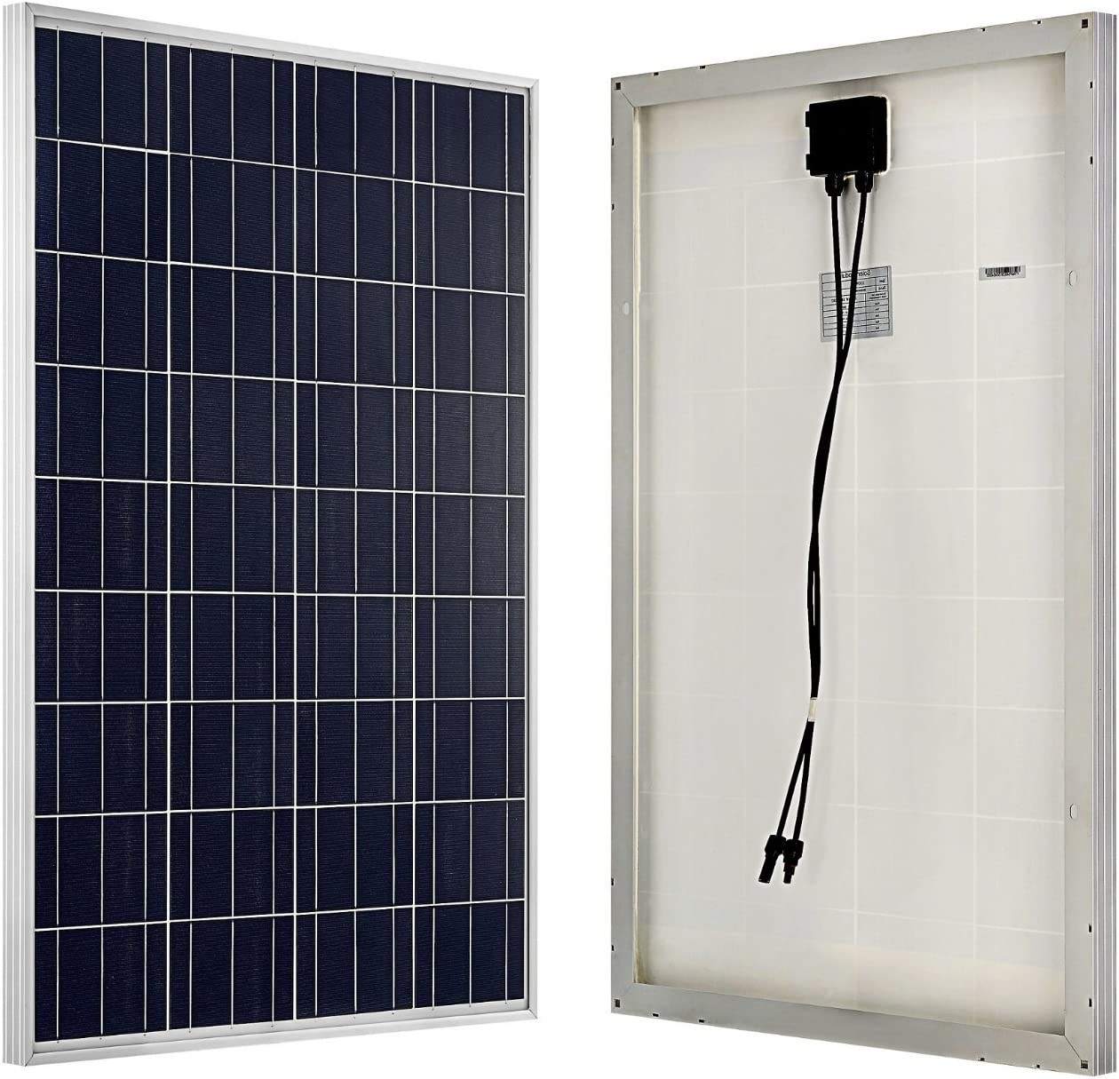 ECO-WORTHY 200 Watts 2pcs 100W Polycrystalline Photovoltaic PV Solar Panel Ideal For 12V Battery Charging On Boats Caravans Motorhome RV