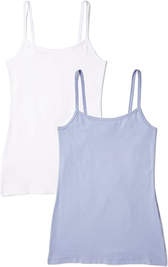 Iris /& Lilly Womens Cotton Vest Pack of 2