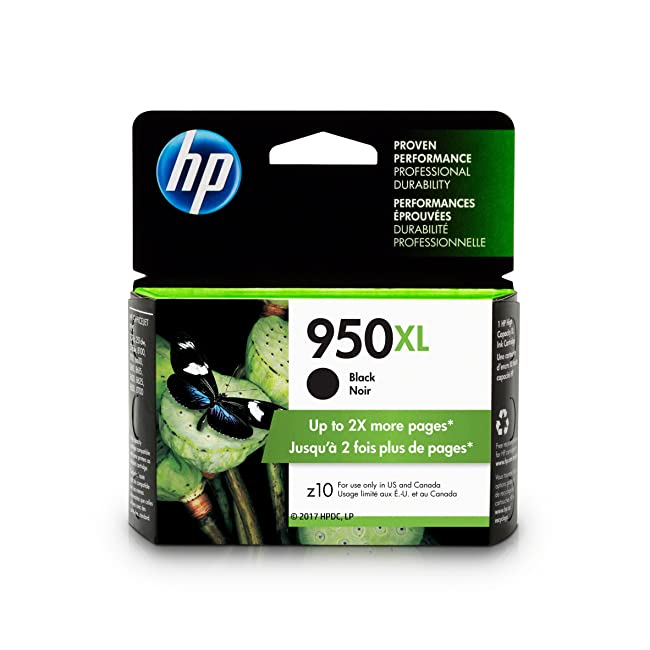 HP 950XL Black Ink Cartridge, High Yield (CN04...