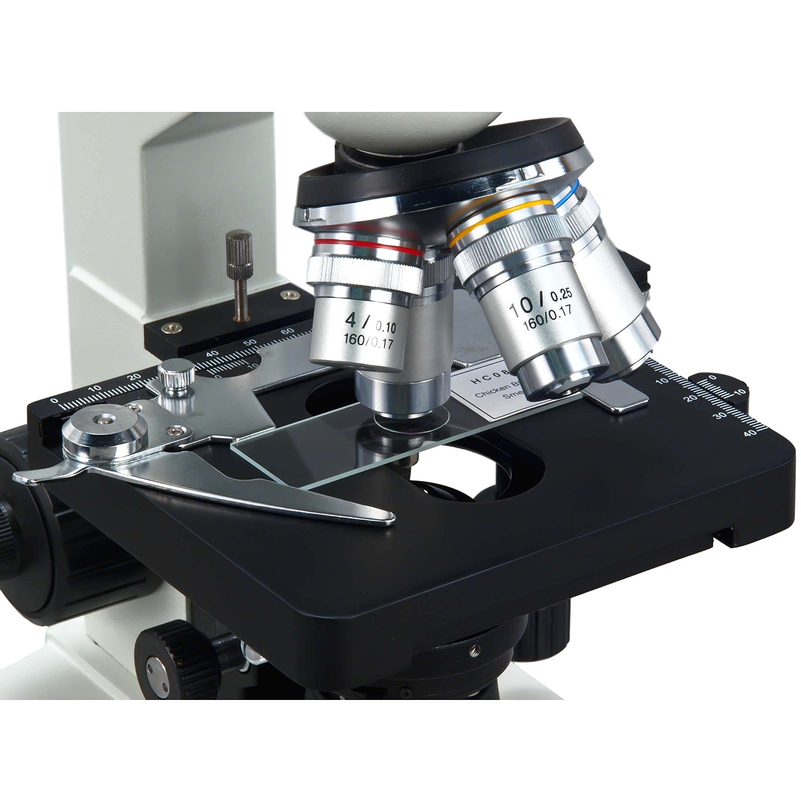 OMAX 40X-2500X LED Digital Trinocular Lab Compound Microscope with USB Camera and Mechanical Stage by OMAX (Image #4)