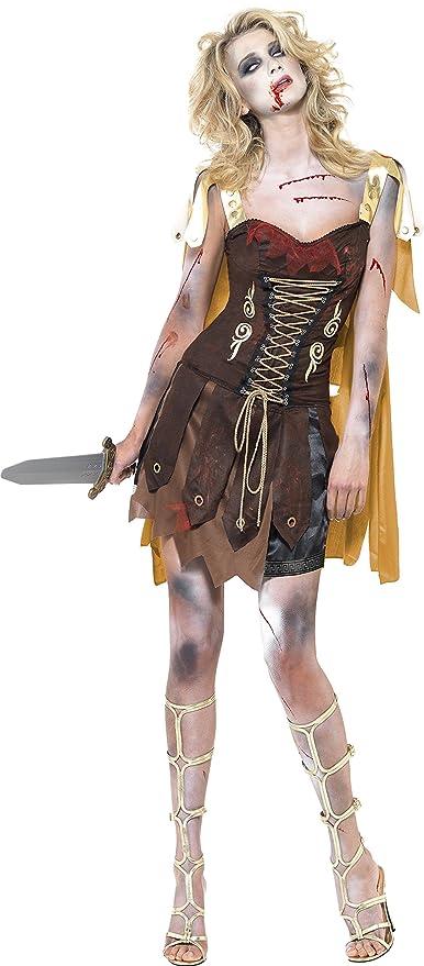Smiffys - Disfraz de gladiador zombi para mujer (23215M): Amazon ...