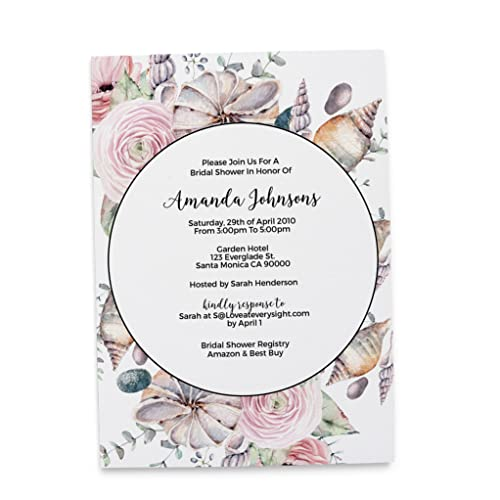 bridal shower party invitations personalized bridal shower invitation cards beach summer mermaid