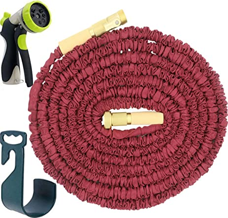 FTLIFE Flexible Lightweight Expandable Garden Hose 50 Feet Double Layer  Latex Core Brass Fitting Lead Free