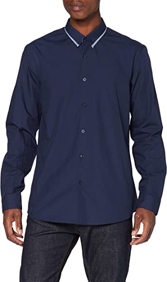 New Look Smart Gingham Camisa para Hombre: Amazon.es: Ropa