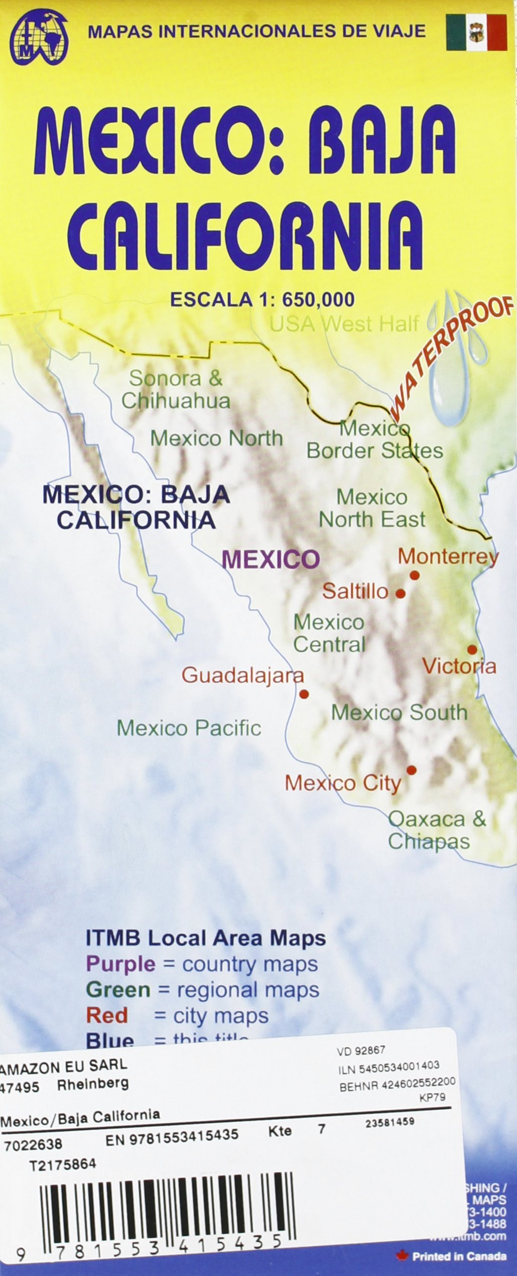 1. Mexico: Baja California Travel Reference Map 1:650, 000 ...