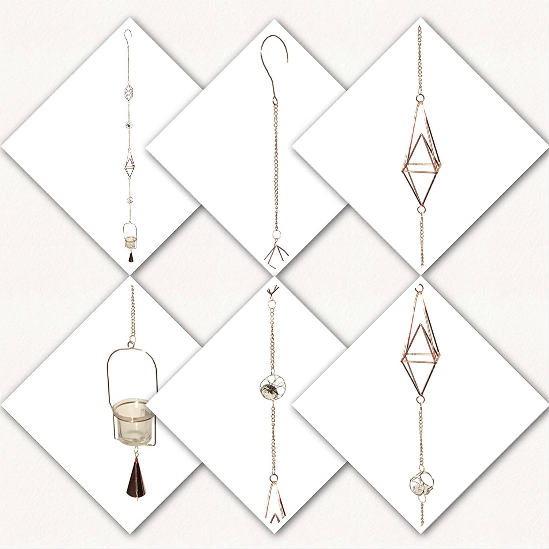 Guirlande thé lumière vent carillons métal illuminé verre bougie Gilde Handwerk 69581