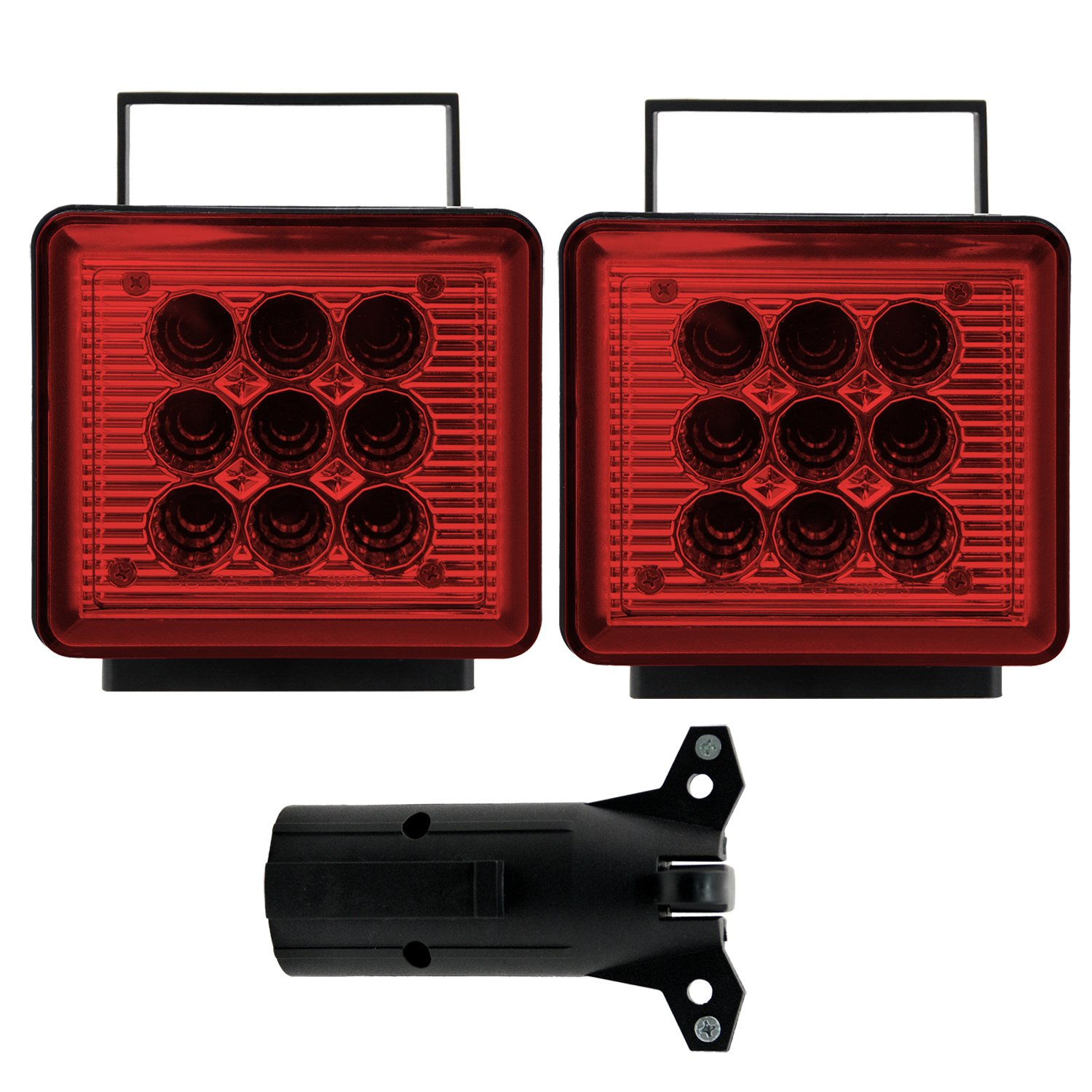 Bully NV-5164 Wireless Trailer Red LED Light Kit with Magnetic Base for RV, Campers, Boats, Farming Equipment, Long Trailers, and Tow Trucks - Requires 12AA Battery by Bully