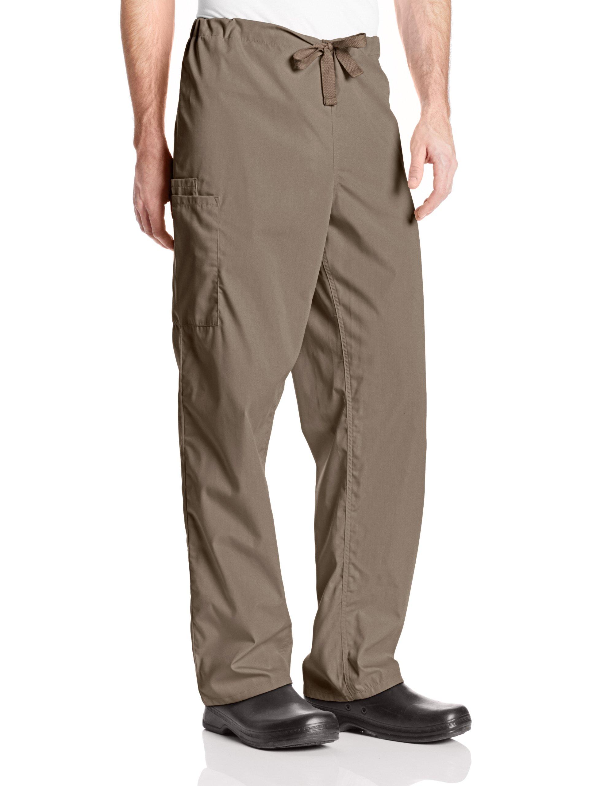 Cherokee Workwear Scrubs Unisex Cargo Pant, Taupe, X-Large/Tall