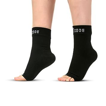Foot Code Fascitis Plantar Premium Tobilleras pie Calcetines de compresión, para talón, Apoyo,