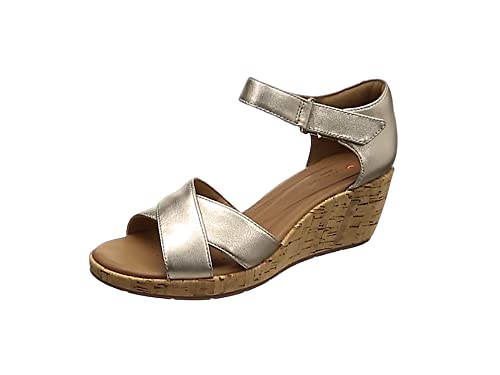 e0445a303d599b Clarks Un Plaza Cross, Sandales Bride Cheville Femme, Or (Gold Metallic),