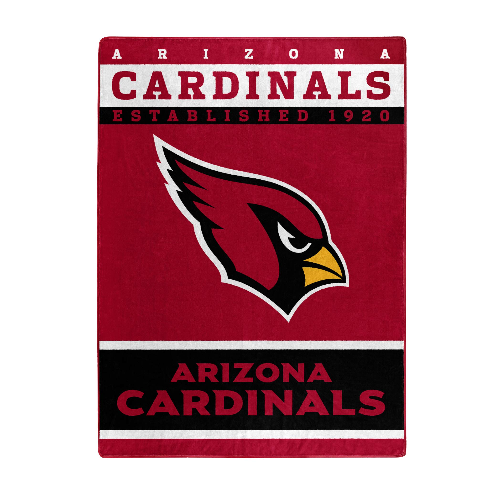 The Northwest Company Officially Licensed NFL Arizona Cardinals 12th Man Plush Raschel Throw Blanket, 60'' x 80''