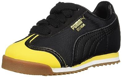 cd6e73a8bf9209 PUMA Baby Roma Kids Sneaker Minion Yellow Black