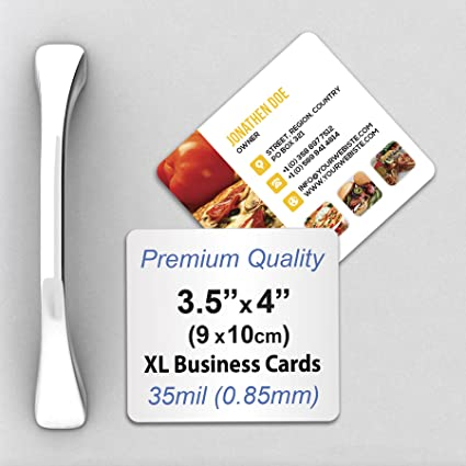 Amazon premium 35mil thick xl business card magnets with premium 35mil thick xl business card magnets with rounded corners reheart Images