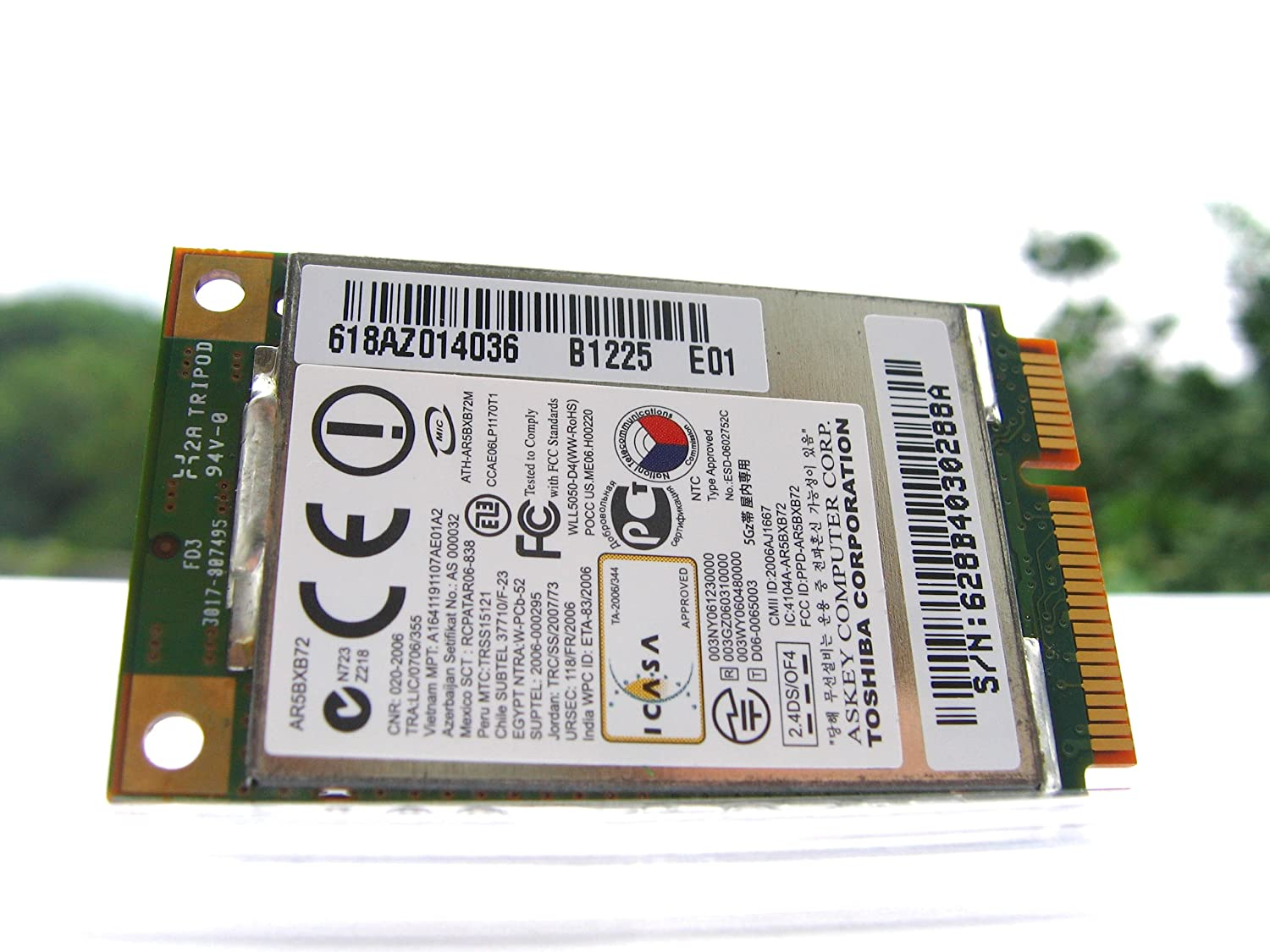 Atheros 5418 AR5BXB72 AR5008 WiFi Mini-PCI 802.11 abgn: Amazon.es: Electrónica