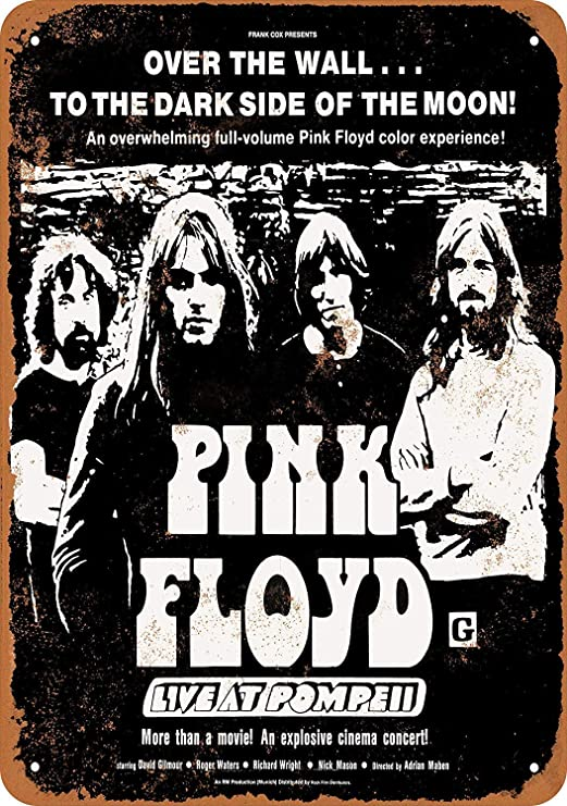 Pink Floyd Live at Pompeii Póster De Pared Metal Retro Placa ...