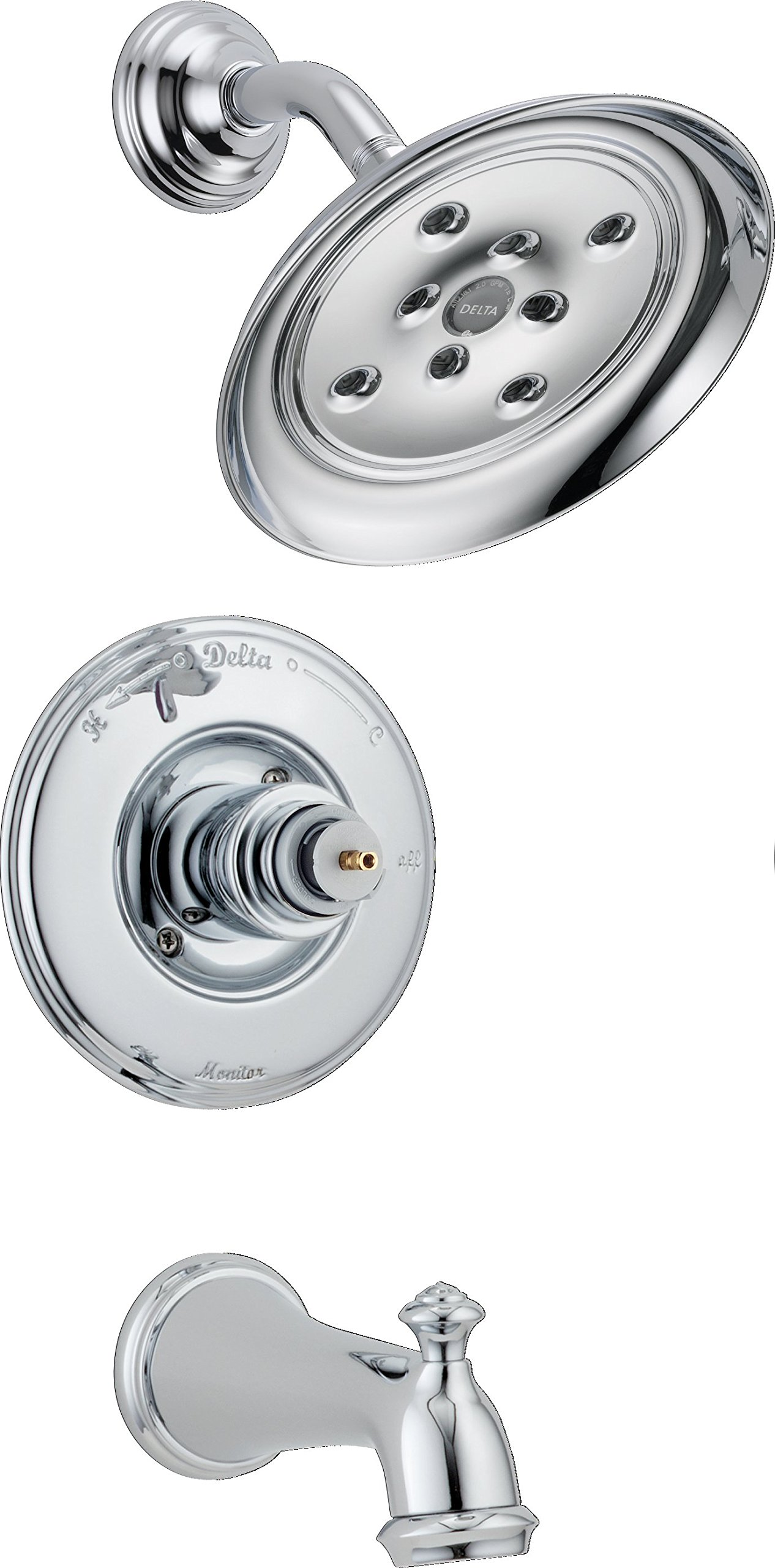 Delta T14455-H2OLHP Victorian Monitor 14 Series Bathtub & Shower Trim without Handle, Chrome