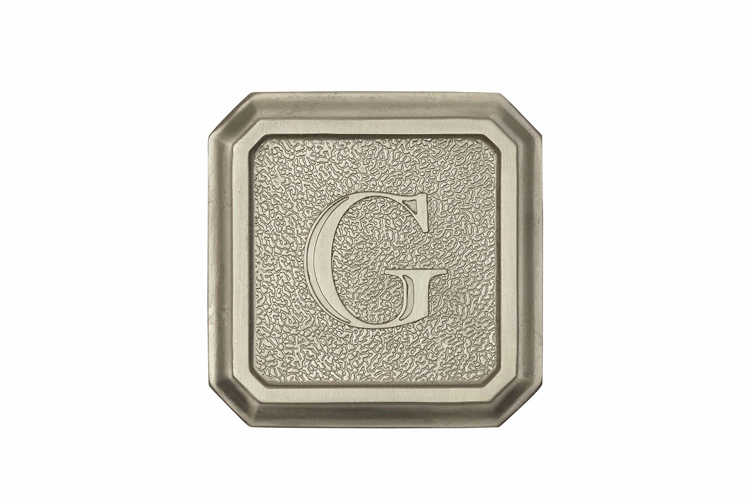 Architectural Mailboxes 3650SN-G Aluminum Satin Nickel Monogram - Letter''G''