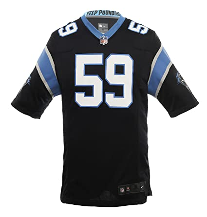 Amazon.com   Nike NFL Luke Kuechly Carolina Panthers Jersey Black ... 0453fbc3d