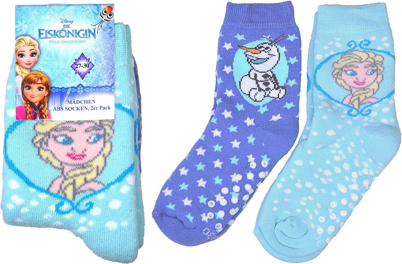 Best Deal Market 2er oder 4er Pack Disney ABS Socken Vollfrottee M/ädchen Jungen Eisk/önigin Schneemann Auto Helden Elsa Original Cars Frozen Motive 27 30 31 34 35 38 Kleinkinder