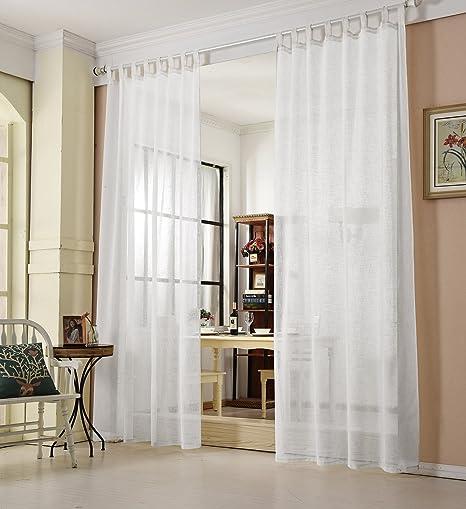 Tende In Organza Moderne.Woltu Vh5864ws Tenda Trasparente Per Finesta Camera Da Letto Lino