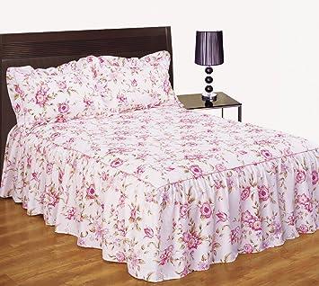 couvre lit avec des roses Dahlia rose à fleurs rose couvre lit jeté de lit double avec  couvre lit avec des roses